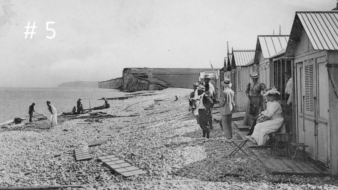 The beach in the years 1900